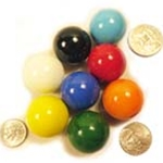 "1"" or 25mm game marbles"