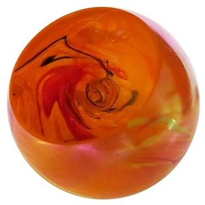 "Glass Eye Studio Paperweight - ""Solar Storm"""