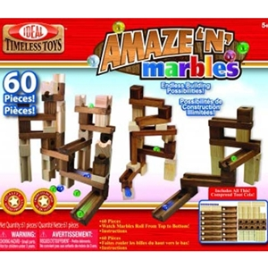 Amaze-N-Marbles Run 60 pc Set