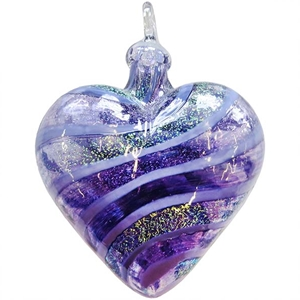 Purple Jasmine Heart Ornament