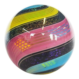 "Hot House Glass - ""Primary Colored Dichroic Swirl"""