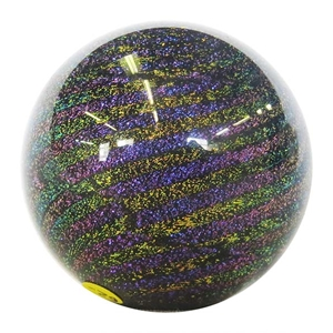 "Hot House Glass - ""Black Dichroic Banded Swirl"""