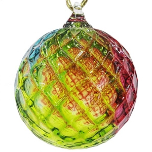 Rainbow Diamond Facet Ornament