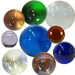 Transparent Marbles, all sizes