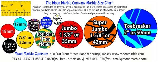 Marble Size Chart