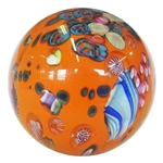 "Bobbie Gaspers Seese - ""Orange 3-D Alien World"" Marble"