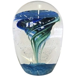 "Glass Eye Studio Paperweight - ""Waterspout Environmental Series"""