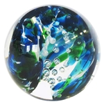 "Glass Eye Studio - ""Blue and Emerald Twist with Air Traps"""