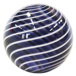 "Hot House Glass - ""Transparent Purple and White Swirl"""