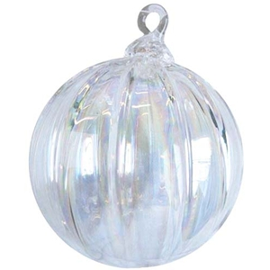 Clear Diamond Rib Ornament