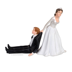 Reluctant Groom Cake Topper
