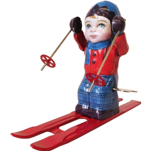 Wind-up Tin Skiier