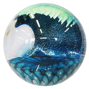"Glass Eye Studio Paperweight - ""Cresting Wave"""