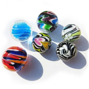 Handmade Spots, Swirls, Feathers, and Foil Marbles