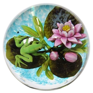 "Cathy Richardson - ""Frog on Lily Pad Marble"""