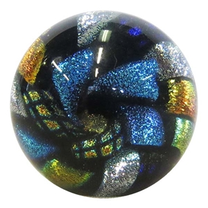 "*Bruce Breslow - ""Dichroic Paperweight Style"""