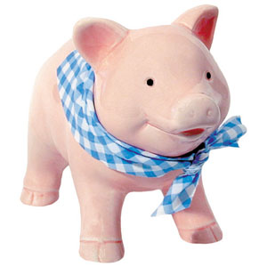 Porcelain Piggy Bank