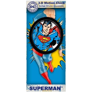 3-D Motion Superman Clock