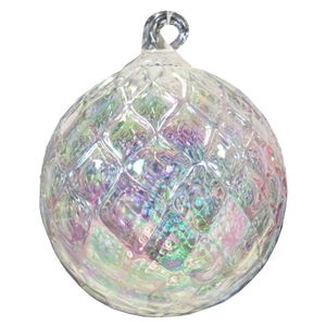 Clear Diamond Facet Ornament