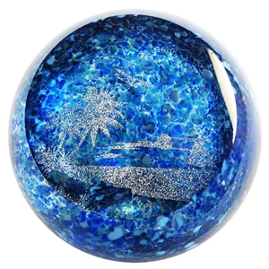 "Glass Eye Studio Paperweight - ""Summer Breeze Seasonal Series"""