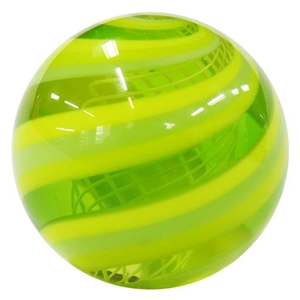 "Hot House Glass - ""Lemon Lime Swirl with Latticino Core"""
