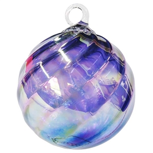 Orange Swirl Ornament