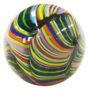 "Fritz Lauenstein - "" Multi Colored Transparent Cane Swirl"""