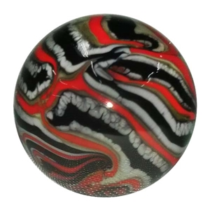 "*Bruce Breslow - ""Red, Black, and Grey Tye Dye"" Marble"""