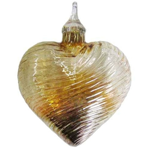Golden Heart Ornament