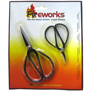 "3"" and 6"" Hot Glass Cutting Shears"