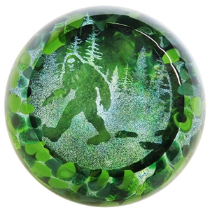 "Glass Eye Studio Paperweight - ""Sasquatch"""