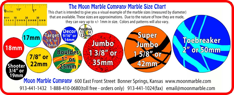 print a marble size chart