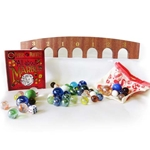 Marble Games with Wooden Archboard