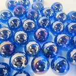 Iridized Transparent Blue 7/8""
