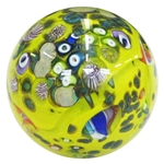 "Bobbie Gaspers Seese - ""Yellow 3-D Alien World"" Marble"