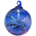Cobalt Feather Chip Classic Ornament