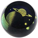 "Glass Eye Studio Paperweight - ""Celestial Saturn"""