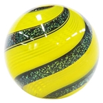"Hot House Glass - ""Yellow and Black Dichroic Swirl"""