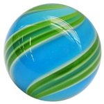 "Hot House Glass - ""Blue and Green Swirl"""