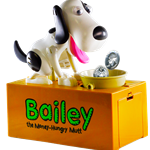 Bailey the Money Hungry Mutt Bank