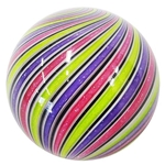 "Hot House Glass - ""Pink, Purple, Lime Swirl"""