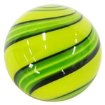 "Hot House Glass - ""Yellowish Green and Green Swirl"""