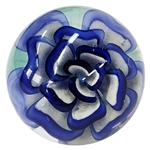 "Fred Linders - ""Blue and White Flower Marble"""