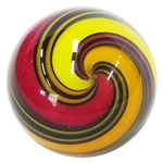 "Hot House Glass - ""Warm Banded Swirl"""