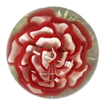 "Fred Linders - ""Red and White Flower Marble"""