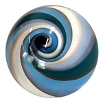 "Jerilyn Alderman (Firechilde Glass) - ""Teal, Blue, and White Vortex"""
