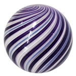 "Hot House Glass - ""Purple and White Swirl"""