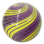 "Hot House Glass - ""Purple and Yellow Swirl"""