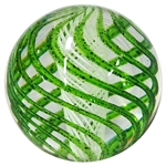"Sammy Hogue - ""Green Twistback Swirl with White Latticino Core"""