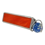 "4"" Equilateral Kaleidoscope for Boulder Marbles - Orange"